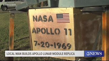 Coastal Bend man builds Apollo Lunar module replica for 50th anniversary of Apollo 11