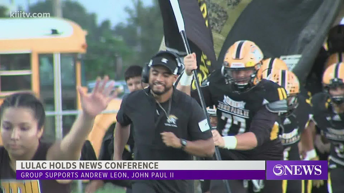 Former St. John Paul II AD, Head Football Coach hosts news conference to discuss recent firing for 'no cause'