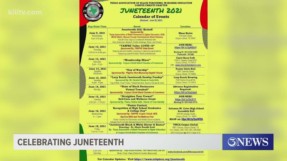 TABPHE of Corpus Christi events celebrating Juneteenth
