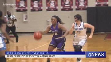 Aransas Pass edges Santa Gertrudis 56-54 to advance to girls basketball region semis