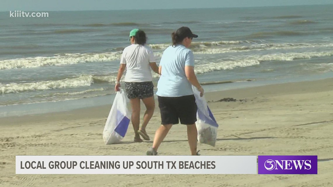 Volunteers gather Sunday to help clean up the beach