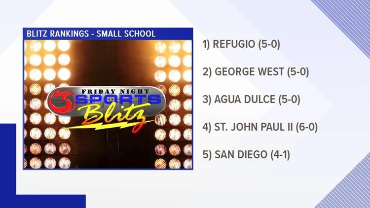 Week 7 - Blitz Rankings Small Schools