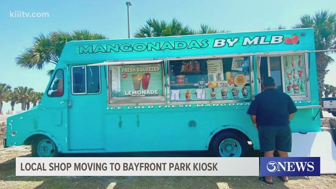 Mangonadas by MLB moving to bayfront park kiosk in Corpus Christi
