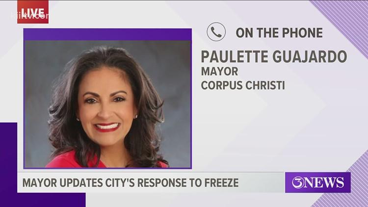 Mayor Paulette Guajardo: crews working to restore Flour Bluff water, 24-hour emergency shelter opening soon