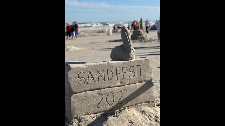 Memories that will never be washed away, artwork from 2021 Sandfest competition