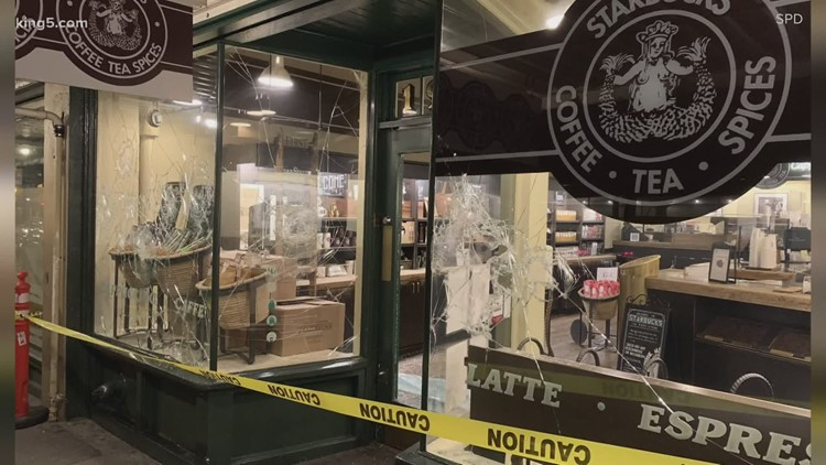 'This is sad': Clean-up at Pike Place Market after destructive protests and arrests in Seattle