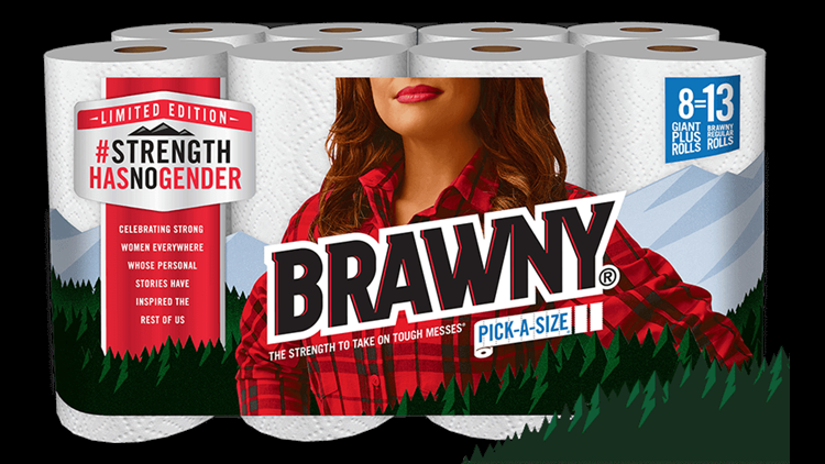 <p>In honor of Women's History Month, Brawny has changed up its packaging.</p>