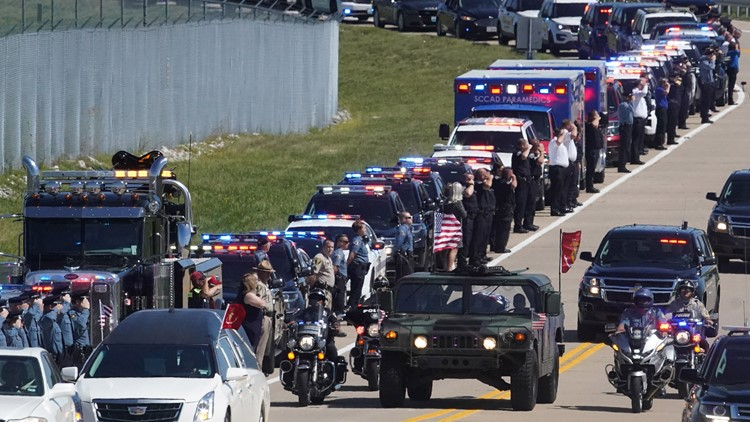 Thousands honor fallen Marine with procession through St. Louis area