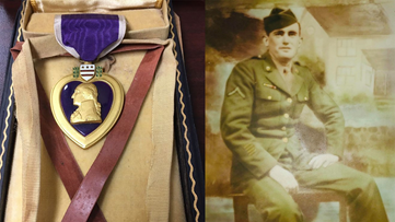 Purple Heart of WWII soldier donated to Arkansas Goodwill being returned to family