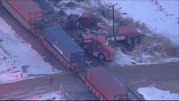 Southbound Highway 85 reopens after train derailment near Platteville