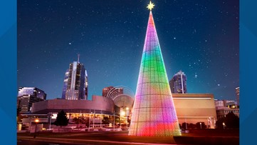 America's tallest digital tree will be lit tonight