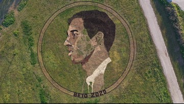 'BETO 2020': Artist creates 2-acre Beto O'Rourke crop circle in Austin