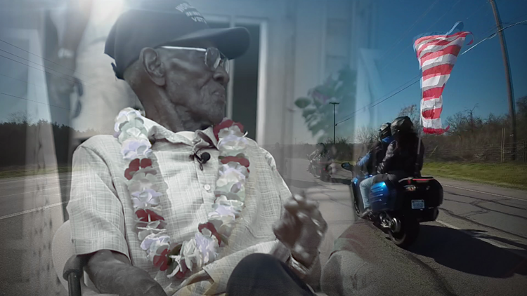 Hundreds of bikers gather to ride in honor of Richard Overton