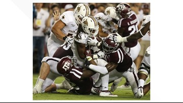 HIGHLIGHTS: Texas A&M Aggies dominate Texas State Bobcats, win 41-7
