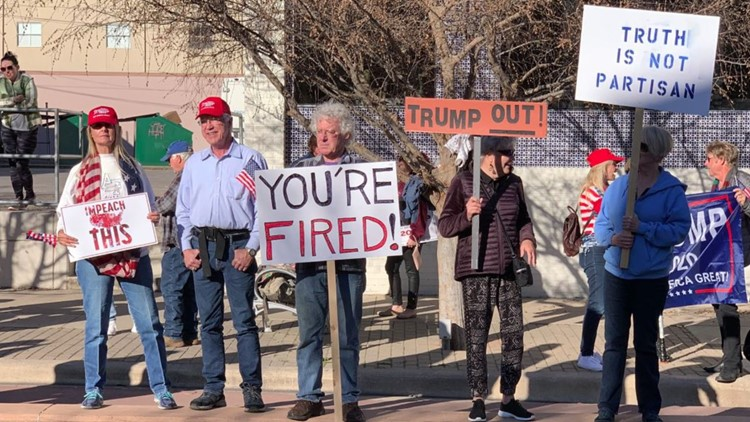 President Trump's Austin visit draws protests from both sides of the aisle