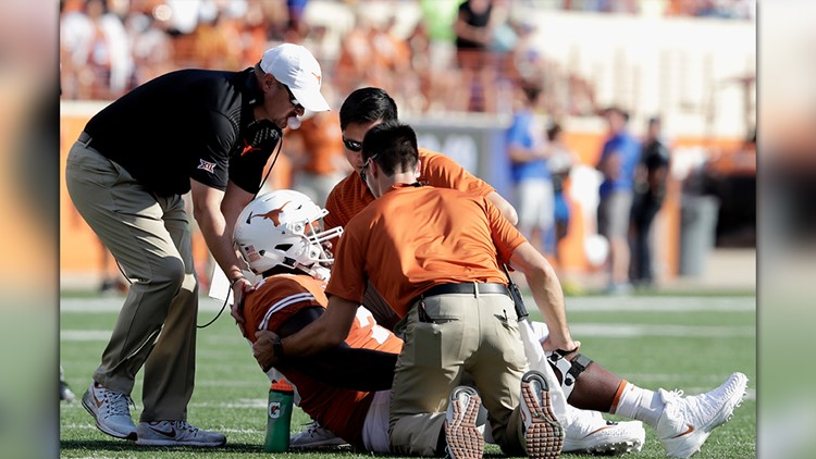 Longhorns offensive lineman Patrick Hudson is out of the hospital and back in classes