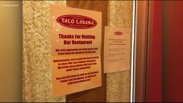 Taco Cabana closing 19 Texas restaurants