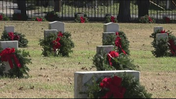 Wreaths Across America reaches goal after more than 2K wreaths sponsored for Texas State Cemetery veteran graves