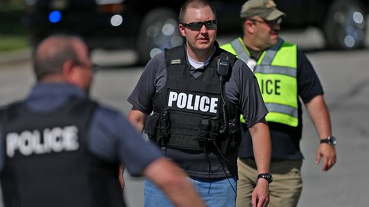Scene at Noblesville High School after an active shooter at the nearby Middle School, Friday, May 25, 2018. (Photo: Kelly_Wilkinson/Indy_Star)