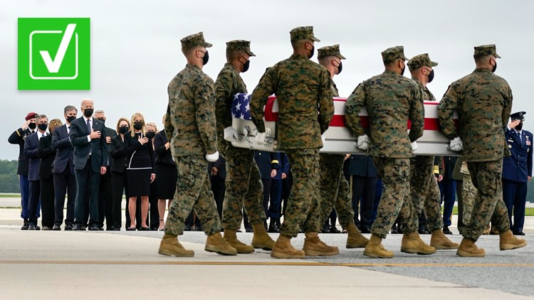 Yes, President Biden attended the dignified transfer of 13 US troops killed in Afghanistan