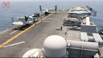 President Trump Says U.S. Navy Ship 'Destroyed' Iranian Drone