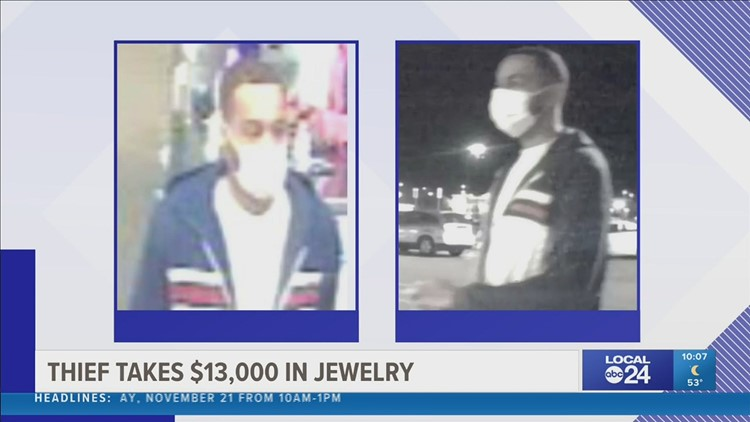 Man hides behind Sam's Club ice cream freezer, waits until store closes, and steals over $13,000 worth of jewelry