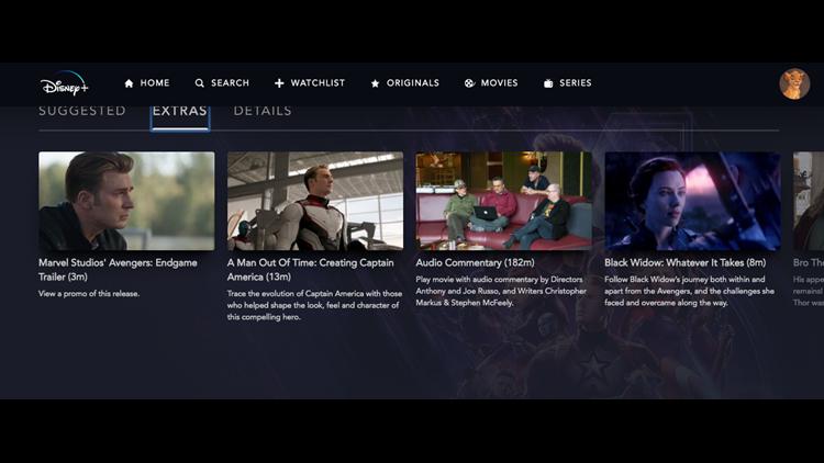 Avengers: Endgame Disney+ Extras