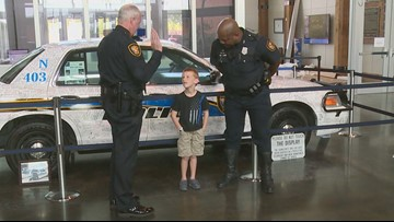 Fort Worth police welcome 5-year-old as honorary member of the force