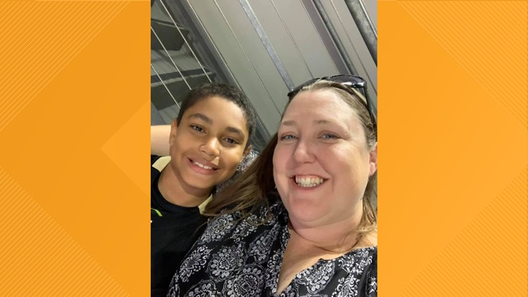 Richelle and her son