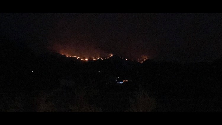 Fires from Thraves porch