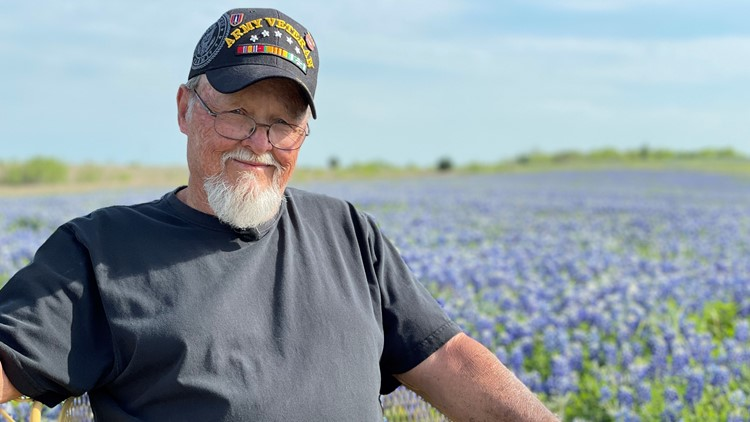 'I got plenty,' says Vietnam veteran whose bluebonnet fields in Ennis are nothing short of breathtaking