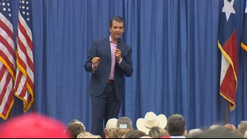 Ted Cruz and Donald Trump Jr. campaigning together