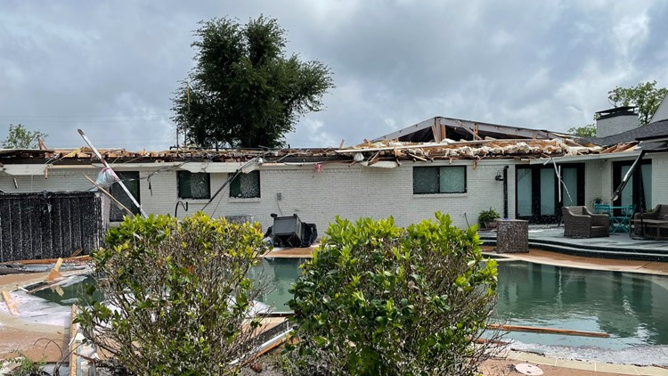 'Lightning doesn't strike twice, but a tornado does,' says Dallas homeowner likely hit by a twister Sunday for second time since 2019