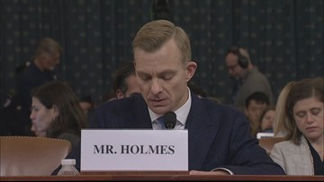 David Holmes gives impeachment hearing opening statement