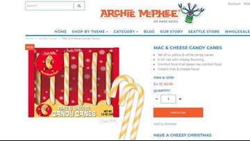 Mac and cheese candy canes are now a thing