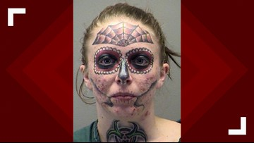 Ohio woman with unique face tattoos arrested for third time since November