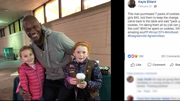 SC man buys $540 in Girl Scout cookies to get girls out of the cold