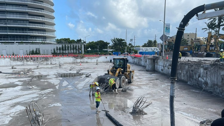 Site of collapsed Surfside condominium building now mostly cleared of debris
