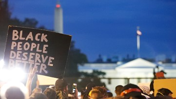 Live updates: 5th day of George Floyd protests in DC tense but peaceful