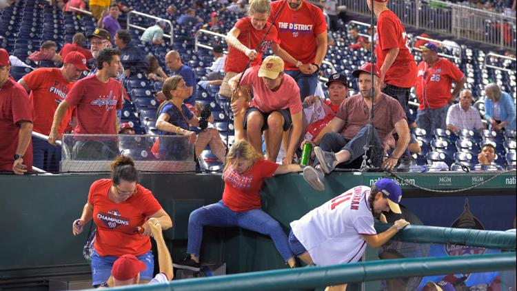 Fans sent scurrying after a triple shooting outside Nats Park during a game | Police recover vehicle of interest