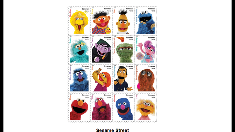 sesame street stamps