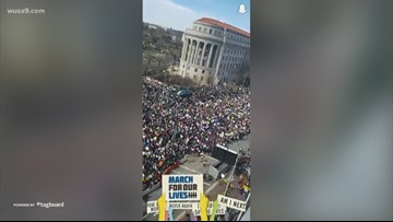 SnapChat video at March for our Lives