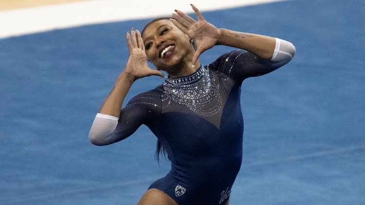 Nia Dennis's viral floor routine highlights 'Black excellence' | Get Uplifted