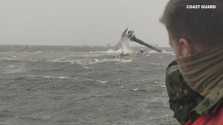 'Giving it all we've got': Coast Guard says some of the 12 missing could still be on capsized boat as search continues
